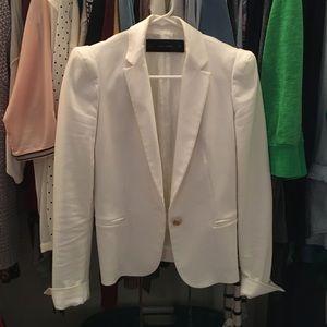 XS Zara Basic White Blazer