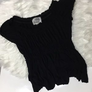 Anthropologie Tops - Deletta Rouched Empire waist black top