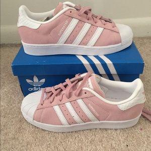 Adidas Shoes - Adidas superstars pink/white