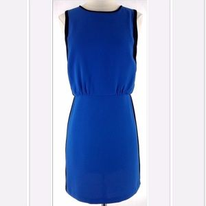 LOFT Dresses & Skirts - Loft Blue and Black Sleeveless Dress