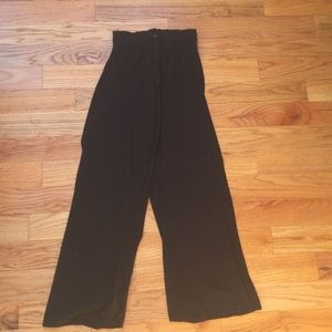 Wide leg flowy black pants high waist