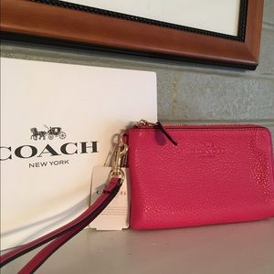 Coach Handbags - SALE!!  Coach Double Zip Wristlet - Price Firm