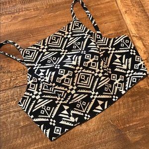 MINT boutique Aztec Crop Top