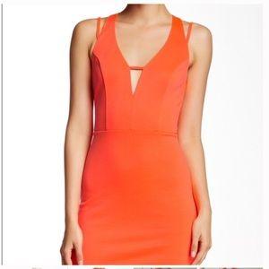 Neon Orange Midi Dress