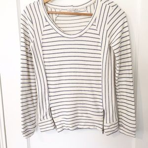 Bloomingdale's Tops - Red Haute Cream and Blue Stripped Top