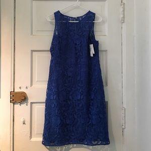 Blue J. Crew lace dress