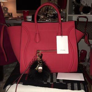 Red Celine Phantom Handbag