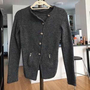 Dark gray Zara button up jacket / blazer