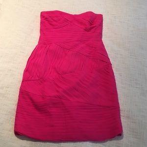 Shoshanna Dresses & Skirts - Shoshanna hot pink strapless dress