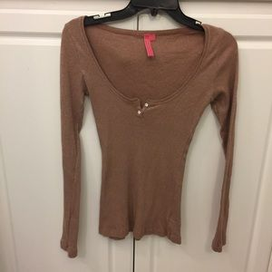 charlotte Tops - low cut Charlotte shimmery top