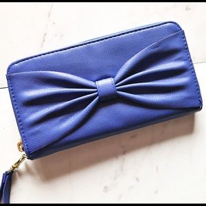 Blue Bow Wallet