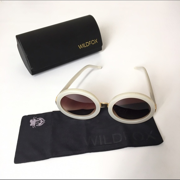 bda128e361 NEW Wildfox Malibu Sunglasses (Pearl White)
