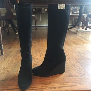 Black Donald J. Pliner Wedge Boots