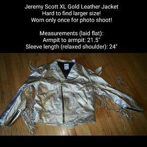 Jeremy Scott x Adidas Other - Jeremy Scott Gold Adidas Wings Fringe Jacket
