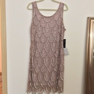 Pisarro Nights Dresses & Skirts - 💜💜Lavender Beaded Dress - Size 18W