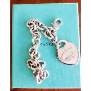 "Tiffany & Co. Jewelry - TIFFANY Retired 925 Charm Brcelet-""Please Return"""