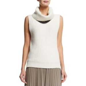 White + Warren Sweaters - White and Warren cashmere sleeveless sweater.