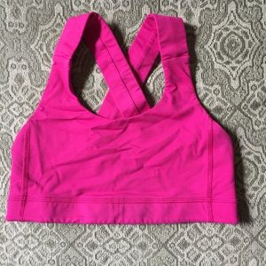 Hot Pink Lululemon thick cross back sports bra