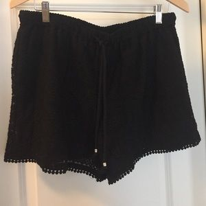 Black Lace/Embroidered Shorts