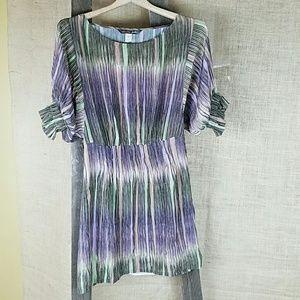 Charlie Jade  Tops - Charlie Jade womens S 100% silk striped tunic