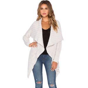 revolve Sweaters - Revolve souk white draped knit cardigan