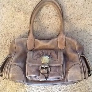 MARC by MARC JACOBS BROWN LEATHER SATCHEL PURSE