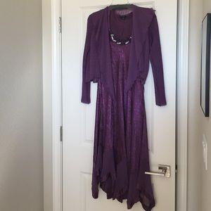 Komarov Dresses & Skirts - Komarov Purple Dress with Jacket