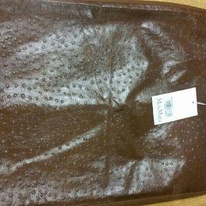 MaxMara ostrich skirt