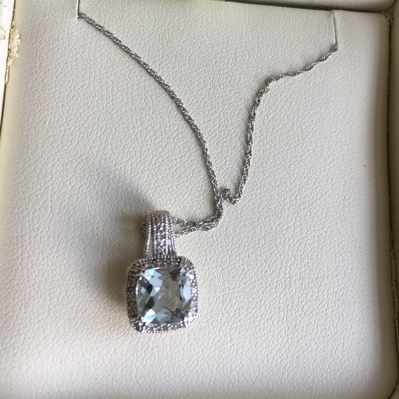 66 off Jared Jewelry Aquamarine white gold necklace from Jared