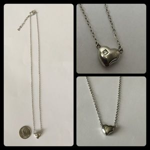 technibond Jewelry - Sterling Silver Technibond Heart Necklace