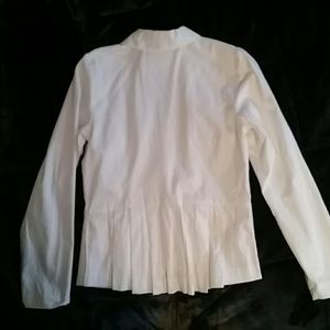 NWOT modcloth white two button blazer