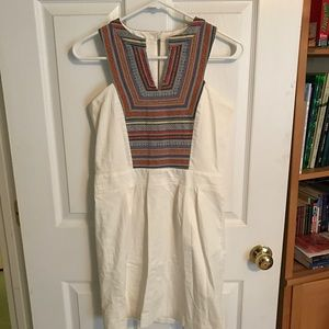 White Aztec Printed Dress
