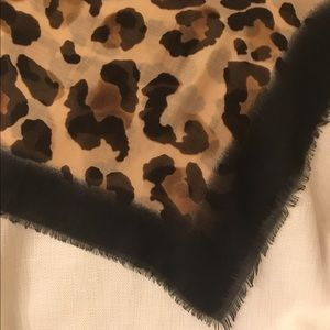 Versatile leopard print scarf/wrap