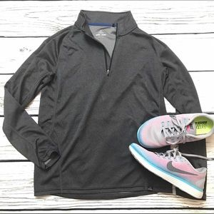 Prana Tops - PRANA Charcoal Gray Pullover Tech Running Shirt
