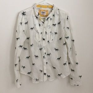 Anthropologie Holding Horses Print Button Up