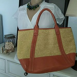 Annabel Ingall Handbags - Annabel Ingall Large Tote Bag With Leather Straps