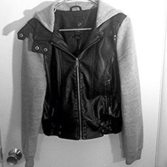 Tilly's - Tillys full tilt leather jacket w/ fleece sleeves from ...