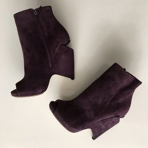 Nicholas Kirkwood Suede Peep-toe Boots