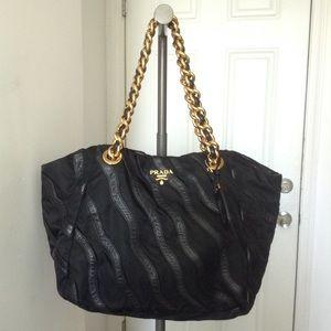 Prada Handbags - 100% Authentic Prada Tessuto Nappa Leather Satchel