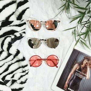 Accessories - New never worn rose gold cat eye sunglasses