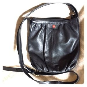 👝LODIS BLACK LEATHER CROSS BODY BAG👝