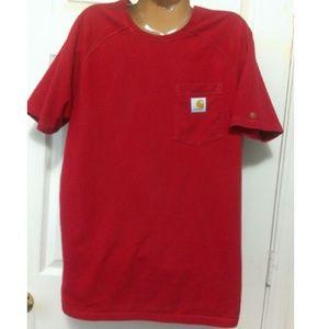 Carhartt Other - Carhartt Red Chest Pocket T-Shirt Size Medium
