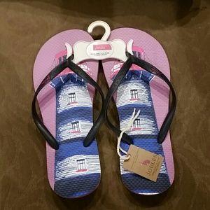 Joules Shoes - NWT LIGHTHOUSE LAVENDER FLIP FLOPS JOULES 7 7.5
