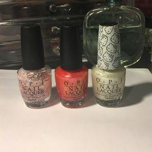 OPI trio nail polish