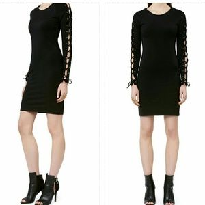 ivyrevel Dresses & Skirts - black laceup sleeves bodycon festival mini dress