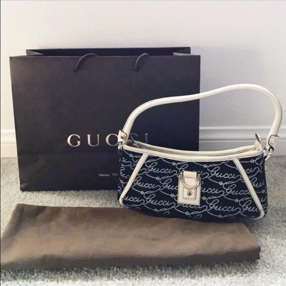 989dfd3a670f12 Gucci Bags | Cursive Logo Shoulder Bag | Poshmark
