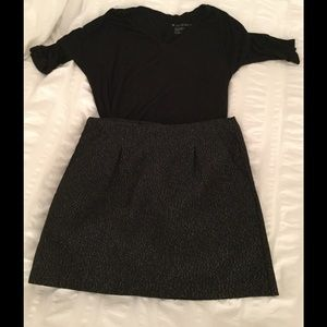 GAP Dresses & Skirts - GAP black and metallic skirt.