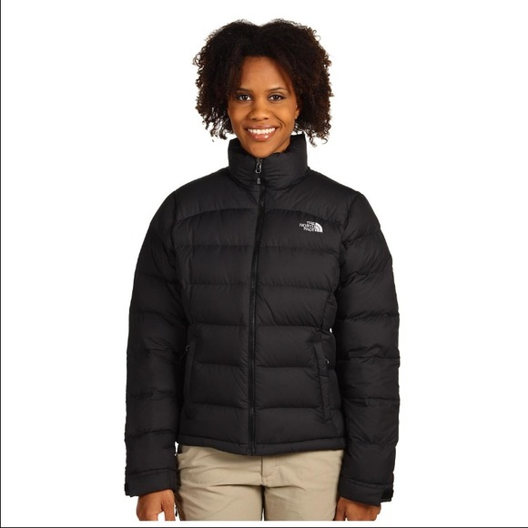 Women s- black north-face puffer coat. M 588bc2662ba50a52ad00c49d bb997e1a3