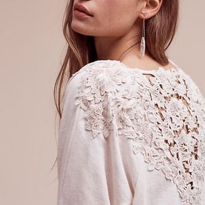 Anthropologie Tops - Bria Lace-Back Pullover, By Meadow Rue