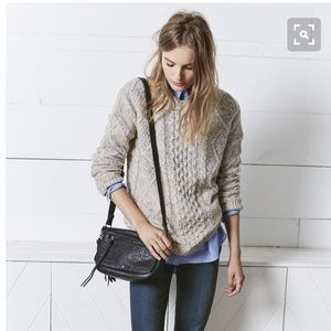 H&M Sweaters - H&M Beige Cable Crewneck Sweater